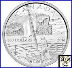 2014 $100 Fine Silver Coin 100th Ann. Of The Declaration- First World War(13987)