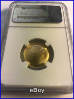 2014 $5 GOLD Baseball HOF Fame NGC MS70 San Francisco Giants WORLD CHAMPIONS