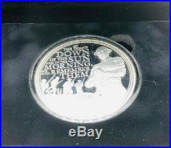 2014 Silver Proof 5oz Guernsey £10 Coin Box + Coa First World War Cent 1/450