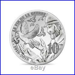 2015 2018 France 10 Euro Silver Proof 4 coin set Great War World War I