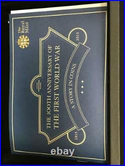2015 6pc Silver Proof £5 100th Ann. First World War-A Story in Coins withBox & COA
