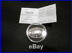 2015 France Rugby World Cup 10 Euro Dome Curved Silver Proof Coin with Box & COA