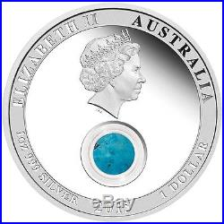 2015 Treasures of the World North America Turquoise 1 oz $1 Silver Coin NGC PF70