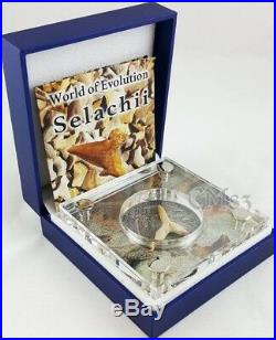 2016 1 Oz Silver SELACHII World of Evolution Coin 1000 Francs Burkina Faso