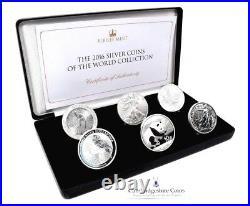 2016 Fine Silver proof World 6 Coins Kookaburra Maple Britannia Box COA Bullion