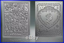 2016 Niue $5 WORLDS LIBRARY HEIDI 3 Oz Silver Coin