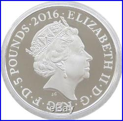 2016 Royal Mint First World War Dreadnought UK £5 Five Pound Silver Proof Coin