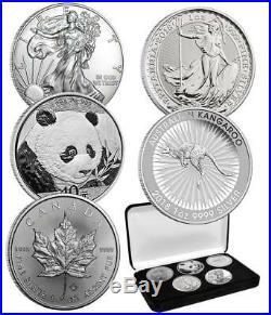2018 5 X 1 Oz Silver World Class Coins Set