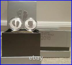2018 Baby Gift Welcome to the World Pure Silver $10 1/2OZ Coin Canada Baby Feet