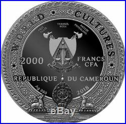 2018 Cameroon 2000 Francs 2 Oz Silver Coin World Cultures