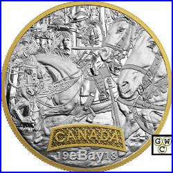 2018'Canada -First World War Allied Forces' Prf $20 Fine Silver Coin(18515)(NT)