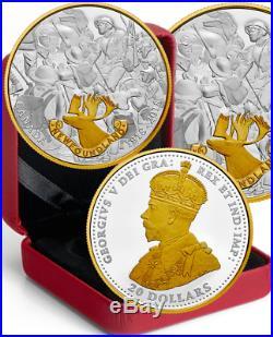 2018 Newfoundland First World War Allies $20 1OZ Pure Silver Proof Coin Canada
