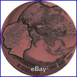 2018 Niue 2 oz World of Meteorites Fukang High Relief Meteorite Silver Coin