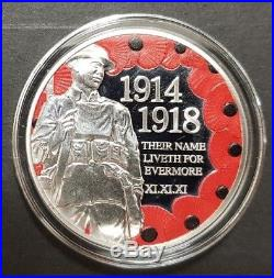 2018 Sterling Silver Proof First World War Five Pound Three Coin Set