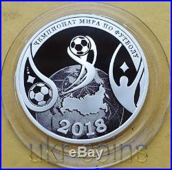 2018 Transnistria Russia FIFA World Cup 1/2 Oz Silver Coin Football Soccer RARE