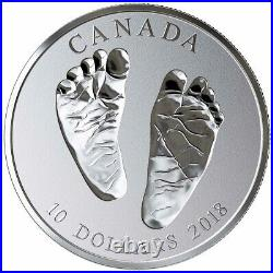2018 Welcome to the World $10 Baby Feet Silver Coin