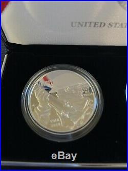 2018 World War I Centennial 2 oz. Silver and Air Service Medal Set U. S. Mint