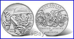 2018 World War I Centennial Silver Dollar and Marine Corps Medal Set