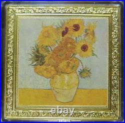2019 $1 Niue Van Gogh Sunflowers Treasures of the World 1oz Silver Proof coin