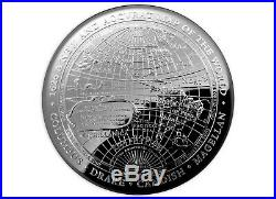 2019 $5 Australia 1626 New Map of World 1 oz Silver Proof Domed Coin in box