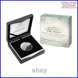 2019 $5 Fine Silver Domed Proof Coin New Map of The World 1626 Columbus
