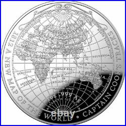 2019 $5 Silver Proof Domed Coin 1812 New Map of the World Captain Cook's Tracks
