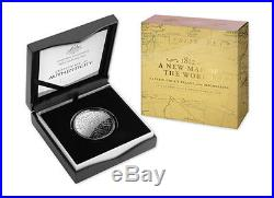 2019 Australia A New Map Of The World $5 Fine Silver Proof Domed Coin RAM