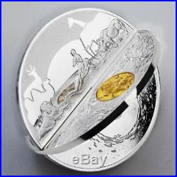 2019 Creation of the World 3D 2oz. 999 Silver Proof Coin Mint of Poland