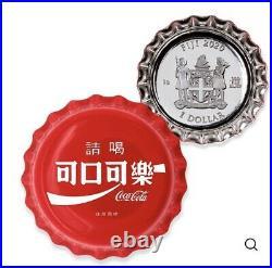 2020 Coca Cola Bottle Cap Fiji 6 Gram Silver Global Edition TAIWAN #7 In Series