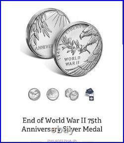 2020 End Of World War II Silver Medal PCGS PR70 DCAM First Strike 75th Anniv