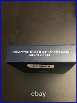 2020 End of World War 2, II 75th Anniversary 1oz Silver Medal Eagle