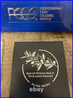 2020 End of World War II 75th Anniversary Silver Medal PR69DCAM PCGS