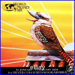 2020 P Australia 1oz Kookaburra Berlin World Money Fair Show 30th Special BU