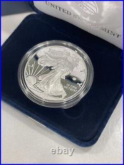 2020 W $1 V75 American PROOF Silver Eagle 1 oz. End of World War II Anniversary