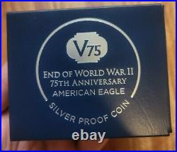 2020 W End World War II 75 American Silver Eagle V75 NGC PF70 IWO JIMA 70!