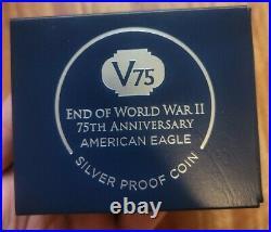 2020 W End World War II 75 American Silver Eagle V75 NGC PF70 IWO JIMA LABEL