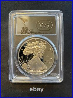 2020-W End of World War II 75th Anniversary American $1 Silver Eagle PCGS PR70