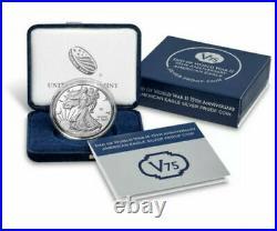 2020 W End of World War II 75th Anniversary American Silver Eagle Privy V75