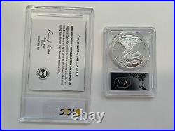 2020-W End of World War II 75th Anniversary Silver Eagle v75 Privy PCGS PR 70