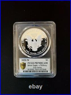 2020-W End of World War II 75th Anniversary Silver Eagle v75 Privy PCGS PR 70 FS
