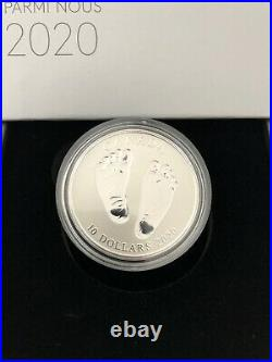 2020 Welcome to the World Baby Feet $10 Silver Coin