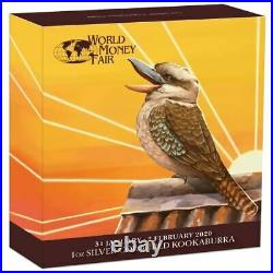 2020 World Money Fair Berlin Show Special Kookaburra 1oz Silver Coloured Coin