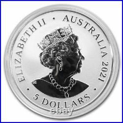 2021 Australia 5 oz Silver Redback Spider BU Only 1000 Coins Worldwide