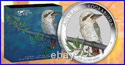 2021 Australia Kookaburra Berlin World Money Fair WMF 1oz Colorized Silver