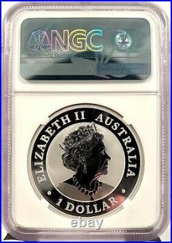 2021 Australia Kookaburra Berlin Worlds Money Fair 1 oz Silver Coin NGC MS 70