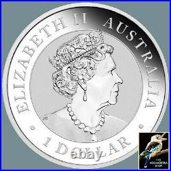 2021 Australian Kookaburra Berlin World Money Fair 1 oz Silver Coin