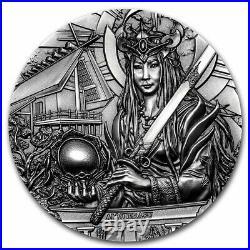 2021 Cook Islands 3 oz Silver Gods of the World Amaterasu SKU#234981