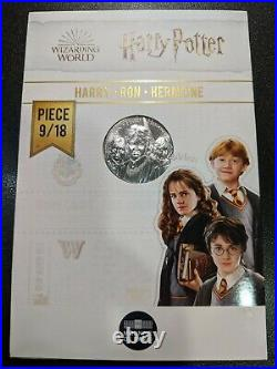 2021 France Silver 10 Euro Harry Potter Coin Set coins 1-9/18 Wizarding World