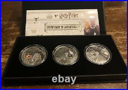 2021 Harry Potter Wizarding World 3 Ounce Silver Coin Proof Set (3 coins)