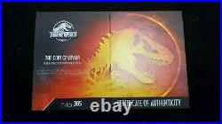 2021 Jurassic World Park NGC MS70 2 oz Silver Antiqued Cracked Planchet withOGP